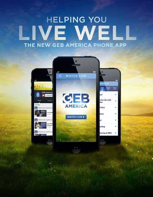 Helping you live well. The GEB America Phone app.