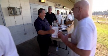 Handing Out Gift Bags and Encouragement – Prison Ministry